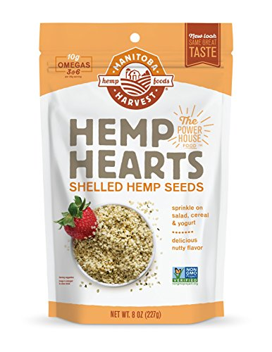 Manitoba Harvest Hemp Hearts Shelled Hemp Seeds, 8oz (Pack of 2); with 10g Protein & 12g Omegas per Serving, Non-GMO, Gluten Free