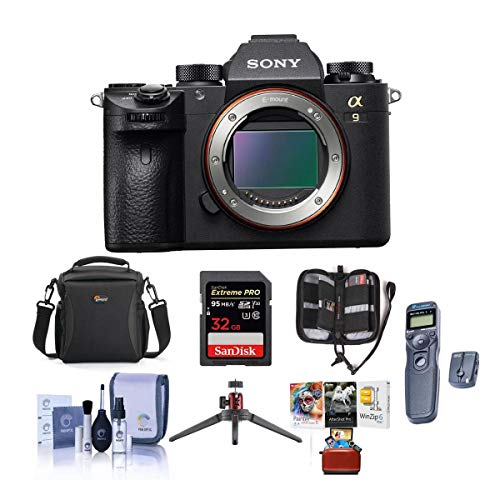 Great Price! Sony Alpha a9 Mirrorless Digital Camera, Full Frame - Bundle with Camera Case, 32GB SDH...
