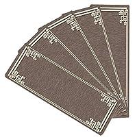 5個の古典的な階段マット、滑り止めの階段踏面カーペットステップマット、自己接着性階段カーペットパッド、床階段プロテクターマット (Color : Brown, Size : 80×24+3cm)