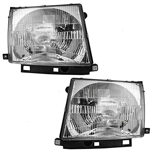 Headlights Headlamps Driver and Passenger Replacements for Toyota Tacoma Pickup Truck 8115004090 8111004090