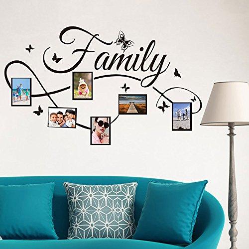 Rmoon Wall Sticker Family Adesivo Murale Cornice Per Foto Adesivi Murali Removibile Decalcomanie Murali