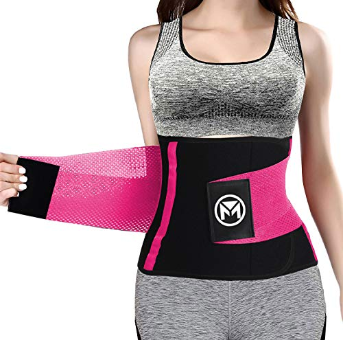 Moolida Waist Trainer for Women Weight Loss Waist Trimmer Workout Fitness Back Support (Hotpink,X-Large)