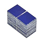AOSHIKE 100pcs 0.12W 0.5V 0.24A 39x19mm/1.53x0.75inch Micro Solar Cells for Solar Panels Polycrystalline Silicon Mini Solar Panel Solar Cell DIY Charger Battery