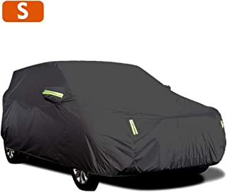 Carrfan Car Cover Full Sedan Covers with Reflective Strip Sunscreen Protection Dustproof&Waterproof UV Scratch-Resistant U...