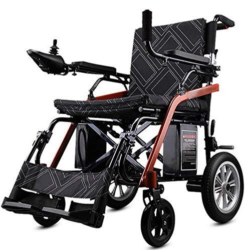 HXCD Faltbarer elektrischer Elektrorollstuhl, älterer behinderter automatischer intelligenter Allrad-Rollstuhl für Behinderte Leichtgewicht, Innen-Außenbereich, Sicherheitsbremssystem, Lithiumbat