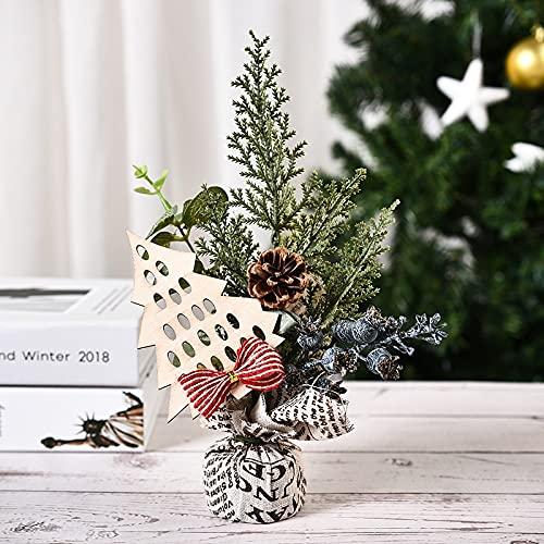 OUMIFA Décorations de Noël Décoration de Bureau de Maison de Noël Mini Simple Mini Décorations d'arbres de Noël Fenêtre Arbre Photo Props Décorations de Noël en extérieur (Color : Blueberry Style)