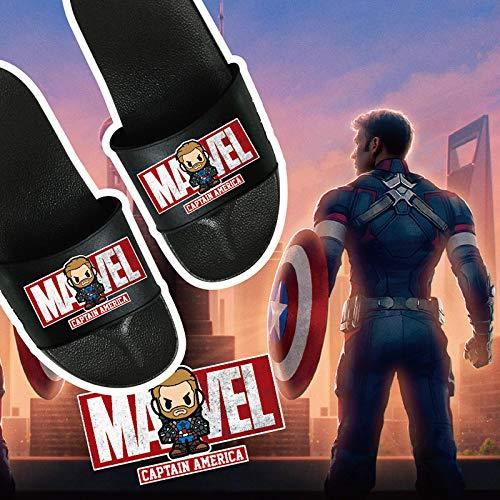 Greneric Slipper Vengadores Iron Man Spider-Man Hulk Black Panther Capitán América Slipper Hero Pantuflas de colores del equipo de los Estados Unidos