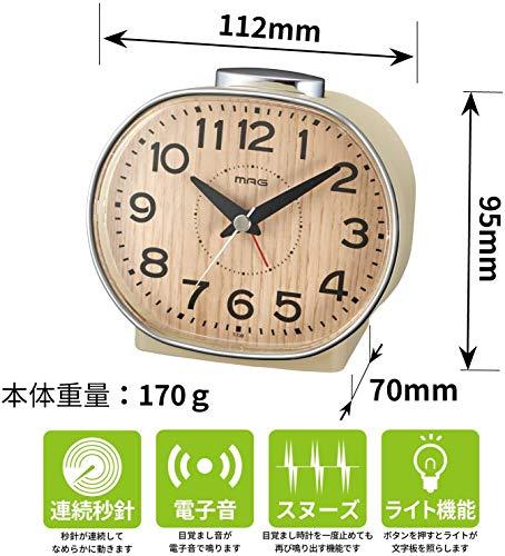 ノア精密 ノア精密 ノア精密 T-739-N-Z ナチュラル MAG 目覚まし時計(ホリー)