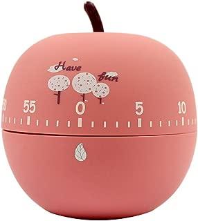 Ranvi Cute Fruit and vegetable Timer, Mini 55 Mins, for Time Management, Kitchen Timer, Kids Timer, Workout Timer (apple)