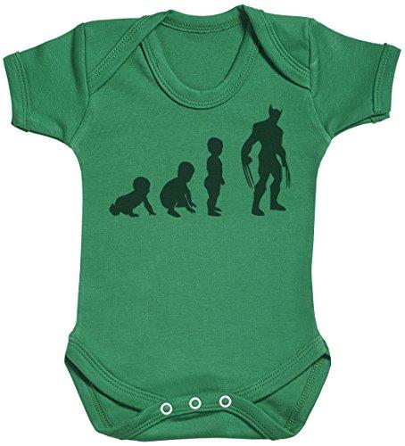 Baby Evolution to A Wolveine Body bébé - Gilet bébé - Body bébé Ensemble-Cadeau - Naissance Vert