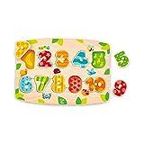 Hape Number Peg Puzzle Game, Multicolor, 5'' x 2''