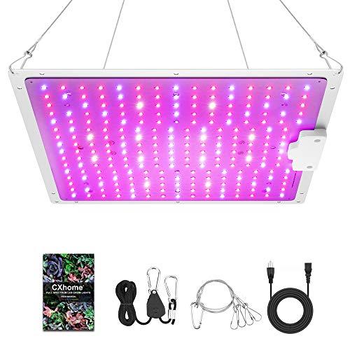 CXHOME CX-1001 LED crece la luz, alta calificación PPFD Sunlike crece luces para plantas de interior 2x2 pies espectro completo, para hidropónica, plántulas de invernadero, verduras y flores (rojo)