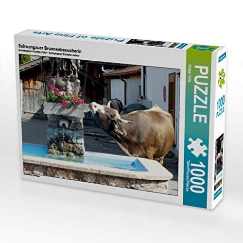 CALVENDO Puzzle Schwangauer Brunnenbesucherin 1000 Teile Lege-Größe 64 x 48 cm Foto-Puzzle Bild von Holger Felix