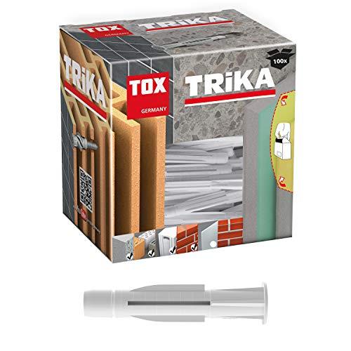 100 St/ück TOX Allzweckd/übel mit Kragen Trika 8 x 51 mm D/übel f/ür fast alle Baustoffe 011100111