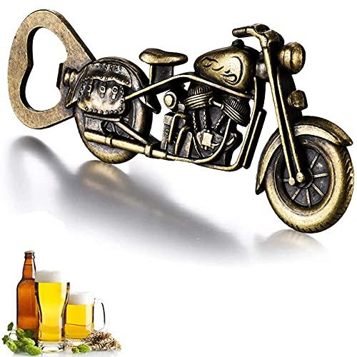 Vintage Motorrad Flaschenöffner, GOOKUURL Motorrad Bier Flaschenöffner,Metall Motorrad Flaschenöffner für Bar Party, einzigartiges Motorrad-Biergeschenk, Geschenke für Männer (Farbe Bronze)
