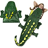 Cozy Crocodile Animal Tail Blanket for Kids Soft and Comfortable Kids Sleeping Bag Sleep Sacks Blankets for Movie Night, Sleepovers, Camping and More - Fits Boys and Girls Ages 3 - 13 Years