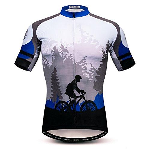 "Herren-Fahrradtrikot, kurzärmlig, Oberteil, Größen S-XXXL, Lycra-Bündchen - - For Your Chest 40-42.5"" (L)"