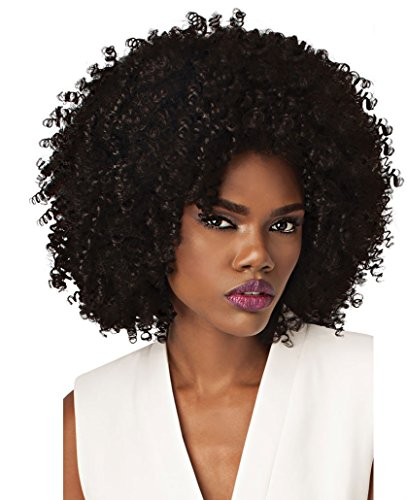 Outre Synthetic Half Wig Quick Weave Big Beautiful Hair 4A-Kinky (1B)