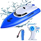 Gamelec Remote Control Boats for Pools and Lakes,12+ mph High Speed RC Boat with Rechargeable Battery, 2.4 GHz Outdoor Adventure Electric Racing Boats for Kids and Adults