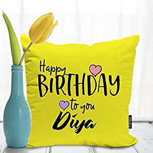Birthday Cushion Cover with filler is a great gift for Birthday Package Content: 1 Printed 12X12 Cushion Cover, 1 Vacuum Filler  Size: 12X12 Inches / 30X30 Cms/ Material: Soft Poly Satin cushion filler comes vacuum packed, hence is flat and compresse...