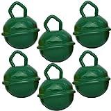 Cascabeles Verde Oscuro Pequeños (15mm x6 Campanillas de Bronce Musicales...
