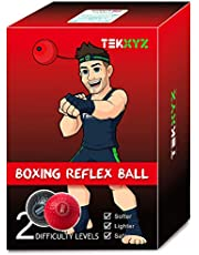 TEKXYZ Boxing Reflex Ball with Headband, Super Fun Punching Excercise for Kids and Adult to Train Reflex and Hand-Eye Coordination