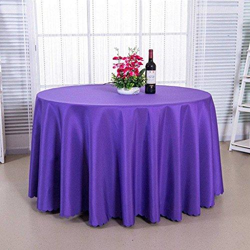 Yxx max - Mantel grueso de colores redondos para el hogar, reuniones de hotel, restaurante – sin pelusas, fácil de limpiar WE22 impermeable y antiincrustante (color: A, tamaño: redondo- 180 cm)