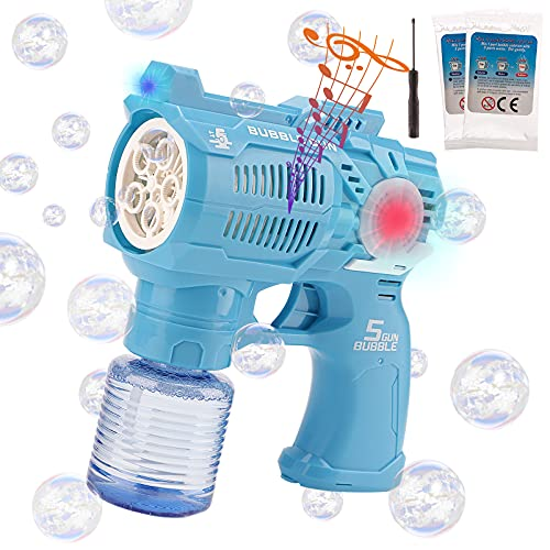 CABF Bubble Gun,Bubble Maker,Bubble Machine,Bubble Blower for Kids,Toddlers,Baby.with Bubble Solution.Thousands Bubbles per Minutes.Perfect for Indoor Outdoor Party,Activities,Birthday Gifts