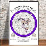 MZCYL Rompecabezas 1000 Piezas Imagen De Montaje S 1892 Plano Mapa De La Tierra Mapa del Mundo Arte Moderno Colección Ate para Adultos Juegos Infantiles Juguetes Educativos MA6966