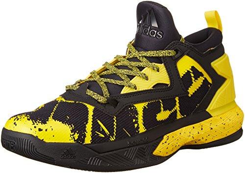 adidas Herren D Lillard 2 Basketballschuhe, Black (Negbas/Amaril/Negbas), 44 2/3 EU