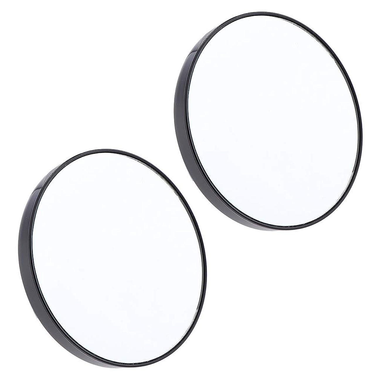 割合実現可能性息切れF Fityle 2個 サクションミラー メイクミラー 化粧鏡 10倍 拡大鏡 壁の吸引ミラー