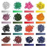 Tinte de vela: 16 colores de cera de cera para hacer velas de cera para velas hechas a mano