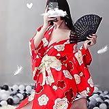 DSGTR Vestido de lencería Sexy, Delantal francés, Disfraz de sirvienta, Kimono japonés, Cosplay Sexy, Uniforme JK, Bata de Estilo Tradicional para Mujer, Yukata