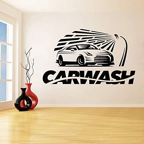 ASFGA Vinyl Wandtattoo Autowaschanlage Autowerkstatt Service Wandaufkleber Autowaschanlage Dekoration Modernes abnehmbares Wandbild