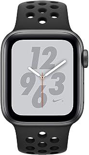 ساعة ابل من السلسلة 4 نايك+ - مقاس 44 ملم مع هيكل فضي اللون من الألومنيوم مع سوار رياضي من نايك، مزودة بنظام تحديد المواقع...