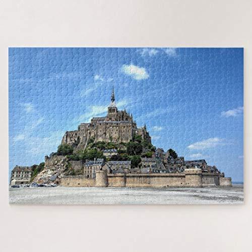CICIDI Travel Architecture Le Mont-Saint-Michel France Jigsaw Puzzle 1000 Pieces for Adult Entertainment DIY Toys , Graet Gift Home Decor