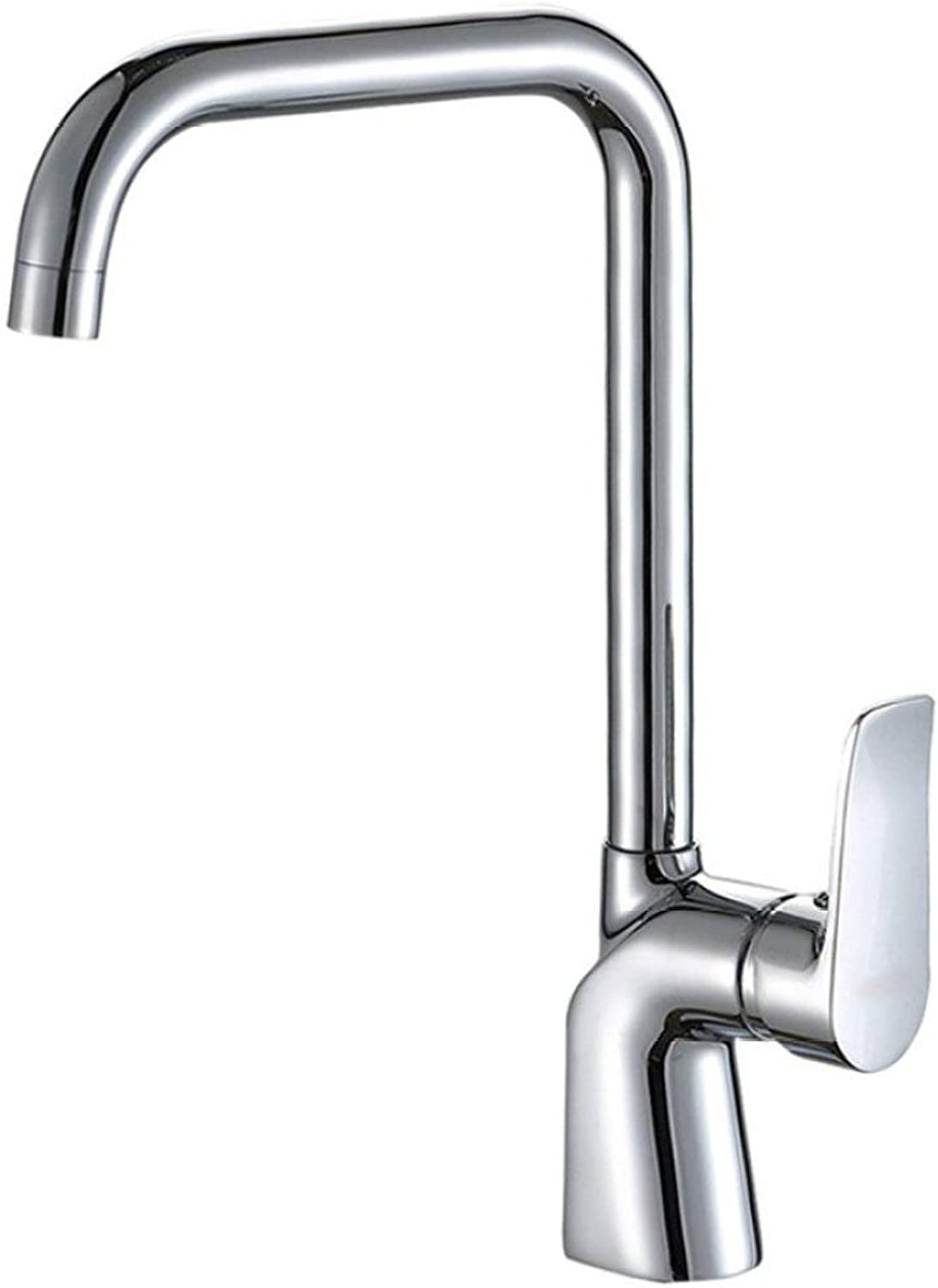 Ceramic valve core hot and cold greenical kitchen basin faucet weighted thickened sink faucet