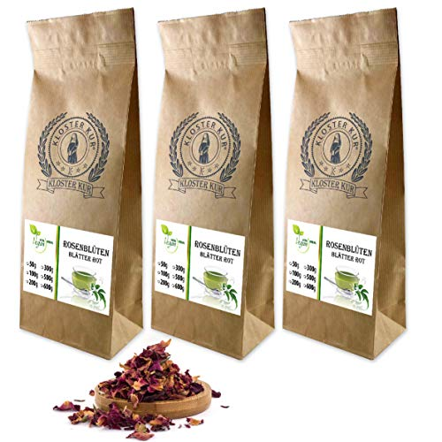 VITAIDEAL VEGAN® Pfingstrosenblütenblätter geschnitten (Pfingstrose, Paeonia officinalis) 3x300g, rein natürlich ohne Zusatzstoffe.