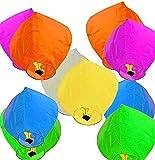 PRINT BHARAT® Sky Lanterns Multicolour Wishing Hot Air Balloon/Flying Night Sky Candle