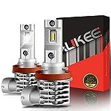 Aukee H11 LED Fog Light, H8 H16 Bulbs 5000Lm 6000K White 12V Super Bright