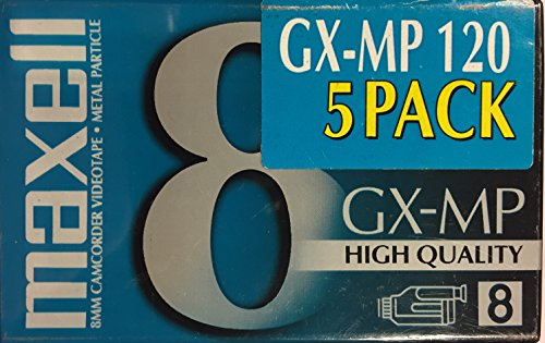 Maxell GX-MP 8mm 120 Minute Camcorder Videotapes (5-pack)