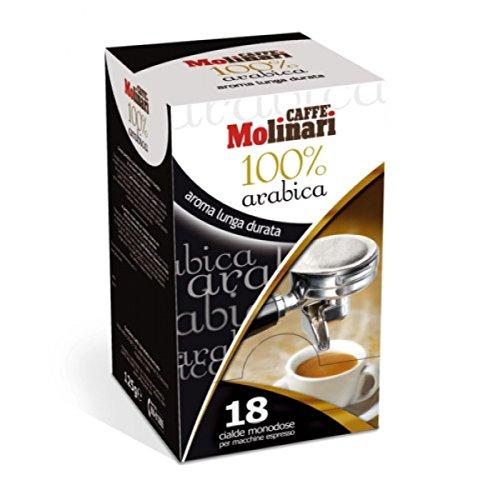 Caffè MOLINARI - Espresso 100% Arabica - 3 x 18 monodosis de cafés espresso E.S.E 44mm (Total: 54 monodosis) envasadas individualmente