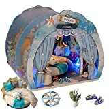 Juguete miniatura de la casa de muñecas de la casa del submarino 3D, sistema del regalo del desafío, juguete de madera de los muebles