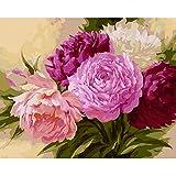 DIY pintura por números flores pintura acrílica por kits de números pintura al óleo por números para decoración del hogar regalo A22 40x50cm