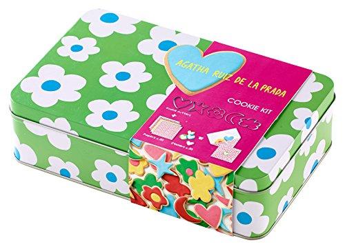 Lékué 4608003SURM017 Kit Cookies Fleur, Acier Inoxydable, Multicolore, 21,5 x 13,5 x 6 cm