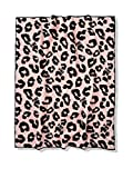 PINKS COLLECTION Chalk Rose Leopard Double Sherpa Blanket 2019