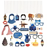 Amosfun Eid Mubarak - Accesorios de cabina de fotos Ramadan Mubarak para Eid Mubarak, accesorios de fiesta para Eid Mubarak (27 unidades)