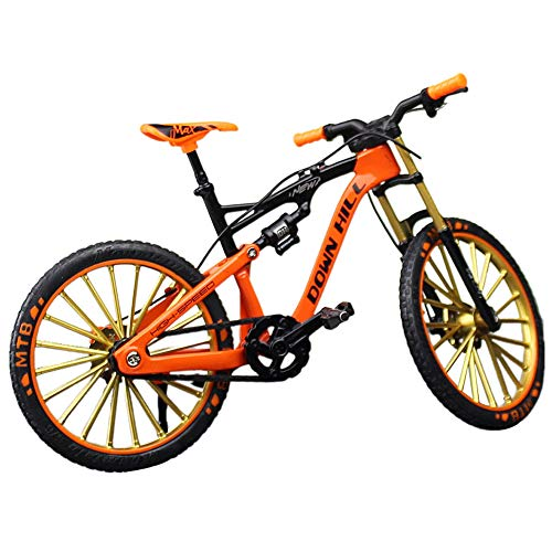 Dengofng Rennrad Modell Mini Mountainbike Dekoration Cool Boy Spielzeug Sammlungen Finger Bikes Spielzeug Desktop Dekoration, nicht null, Orange, downhill mountain bike