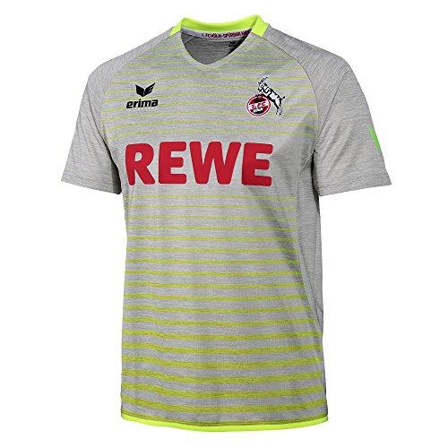Erima Sport Kinder 1. FC Köln Kinder Ausweichtrikot Away 2017/2018 grau gelb 3130718K 391505