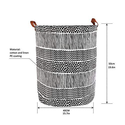 DFYUTJ 1pc Folding Laundry Basket Round Storage Bin Bag Large Hamper Collapsible Clothes Toy Basket Bucket Organizer Large Capacity Laundry basket with waterproof coating (Color : A5)